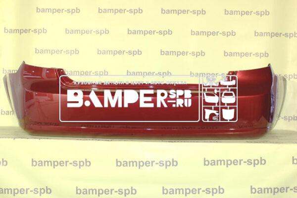 Бампер задний Шевроле Лачетти седан 04-13 красный 70U Red Rock в СПб