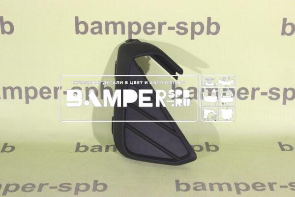 Нижняя решетка бампера правая Фольксваген Поло 6 2020