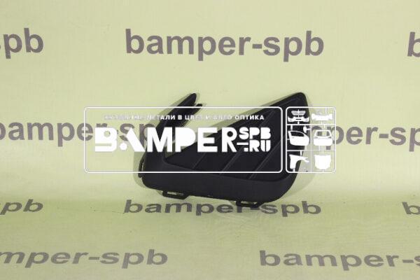 6N58536669B9 Решетка в бампер Фольксваген Поло седан 2020 нижняя ПРАВАЯ